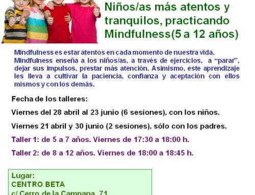 Talleres Mindfulness para niños/as. Abril – junio 2017