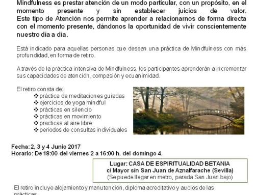 Retiro de Silencio MINDFULNESS: Compasión y Ecuanimidad. 2, 3 y 4 junio 2017