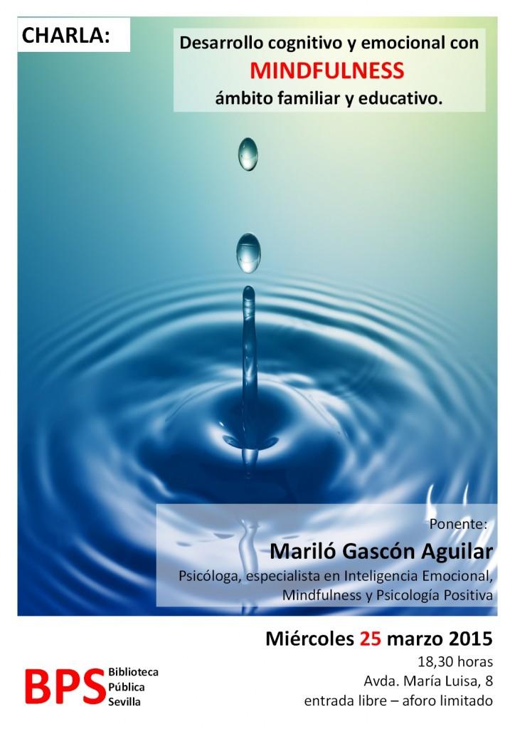 CONFERENCIA SOBRE MINDFULNESS. 25 DE MARZO EN BIBLIOTECA DE SEVILLA