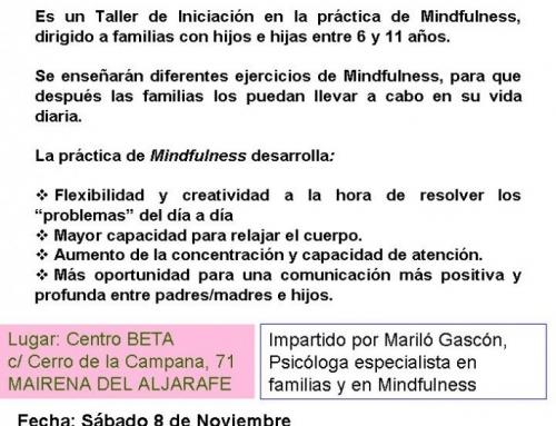 TALLER DE MINDFULNESS PARA FAMILIAS