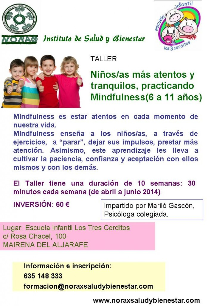 TALLER MINDFULNESS PARA NIÑOS/AS ABRIL -JUNIO 2014