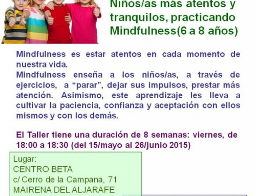 TALLER MINDFULNESS PARA NIÑOS/AS 6-8 AÑOS MAYO/JUNIO