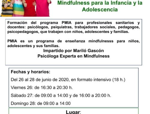 PMIA-Programa Mindfulness para la infancia y la adolescencia. Vizcaya junio 2020