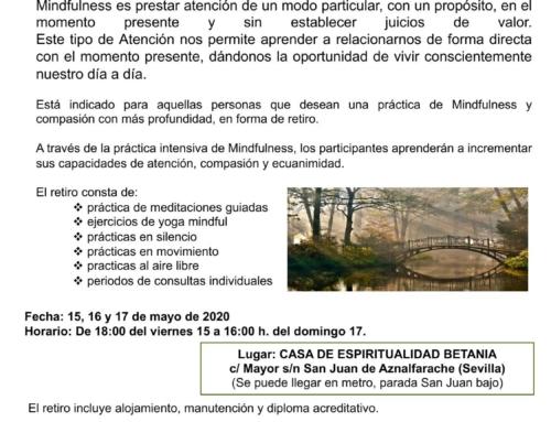 Retiro de silencio Mindfulness. Sevilla mayo 2020