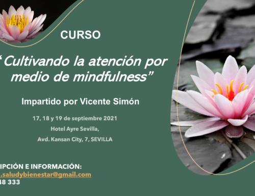 """Curso """"Cultivando la atención por medio de Mindfulness"""", impartido por Vicente Simón en Sevilla, del 17 al 19 de septiembre 2021."""