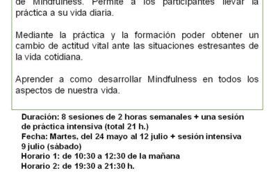Curso práctico MINDFULNESS, del 24 mayo al 12 julio 2016.