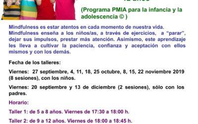 Taller Mindfulness para niños/as de 5 a 12 años. Del 20 septiembre al 13 diciembre 2019.