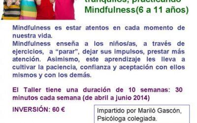 TALLER MINDFULNESS PARA NIÑOS/AS ABRIL -JUNIO 2014